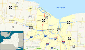New York Map Rochester by New York State Route 390 Wikipedia