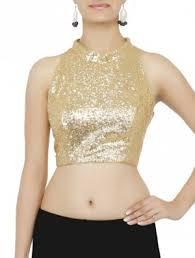 halter neck blouse blouse golden sequined halter neck blouse shopping