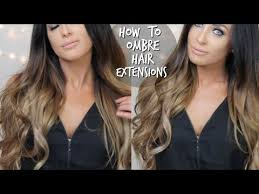 balayage hair extensions how to diy ombre balayage hair extensions at home