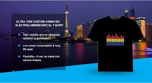 custom light up t shirts factory supply custom sound activated programmable led light up t