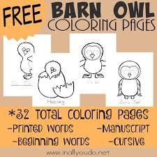 free printable barn owl coloring pages money saving mom
