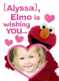 elmo valentines elmo with photo s day card cardstore