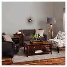 club chairs for living room nolan bonded leather living room club chair espresso threshold