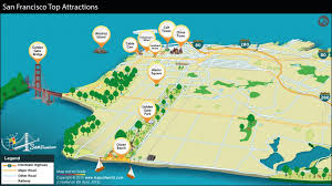 san francisco map sightseeing maps update 21051488 tourist attractions map in san francisco