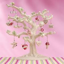 Halloween Ornament Tree by Details About Lenox Valentine Be Mine Miniature Tree Ornaments Set
