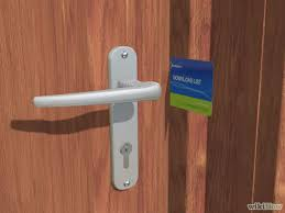 Unlock Bedroom Door Without Key How To Open A Door With A Credit Card 8 Steps With Pictures