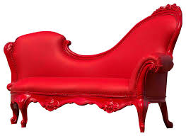 Indoor Chaise Lounge Wiley Polyurethane Chaise Lounge Red Eclectic Indoor Chaise