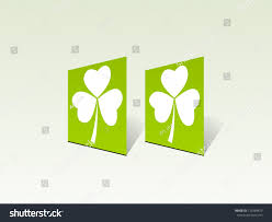 st patricks day clover stand background stock vector 179384879