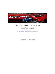 vios yaris u002707 diy manual manufactured goods