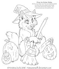 free to color me halloween pup lineart by natsumewolf on deviantart