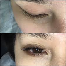 eyelash extensions done by luxe lashes yelp