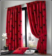 Curtains With Red Red And Black Room Great White And Red Bedroom Curtains U With