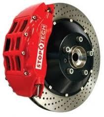 honda civic rotors stoptech 83 433 4300 72 big brake kit front drilled rotors 96 00
