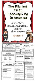 mayflower thanksgiving reading comprehension activities