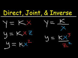 direct inverse and joint variation word problems tutorial