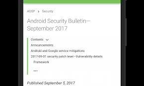 android security update releases the september android security update