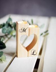 Engravable Wedding Gifts Wedding Candle Holder Wood Rustic Candle Holder Wedding Gift