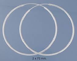 large silver hoop earrings sterling silver hoop earrings model s2268 70mm hoop earrings