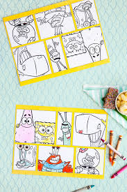 spongebob printable party placemats nickelodeon parents