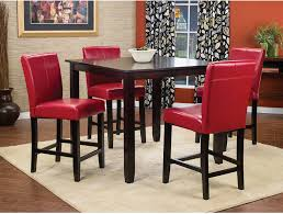 Room And Board Dining Chairs by Nicole 5 Piece Counter Height Dining Package With Red Chairs The