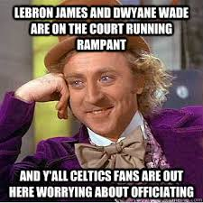 Wade Meme - lebron james and dwyane wade are on the court running rant and
