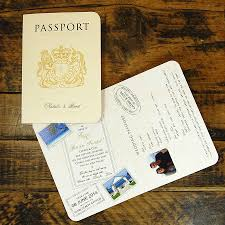 wedding invitations with rsvp cards included passport to travel card style wedding invitation by ditsy
