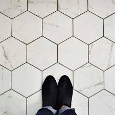 merola tile classico carrara hexagon 7 in x 8 in porcelain floor