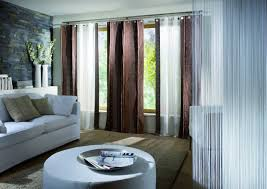Curtain For Living Room by Glorious Two Tone Handmade White And Brown Fabric Double Sliding