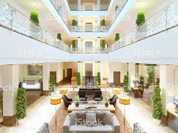 Luxury Interior Design Luxury Interior Design Lounge Area Of The Hotel Stock Photo