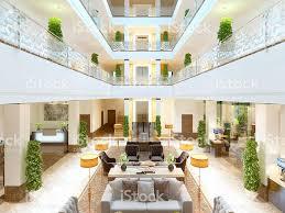 luxury interior design lounge area of the hotel stock photo