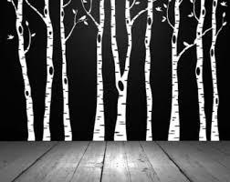 wall art decor black aspen trees wall art white wallpaper white