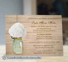 jar bridal shower invitations rustic bridal shower invitations custom bridal shower invitations