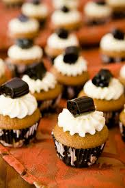 mini black licorice cupcakes for halloween cupcake project