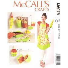 patron de tablier de cuisine patron tablier accessoires cuisine mccall s m6978