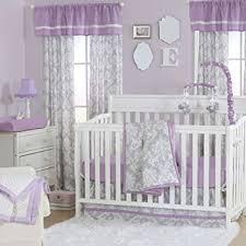 Purple And Teal Crib Bedding Grey Damask And Purple 4 Baby Crib Bedding Set