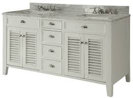 Cottage Style Bathroom Vanities by 60 Inch Bathroom Vanity Cottage Style Off White Cabinet Carrara Top