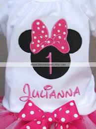 outlet 1st birthday minnie mouse personalized shirt