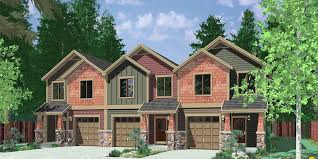 house plans craftsman triplex house plans craftsman exterior town house plans t 407