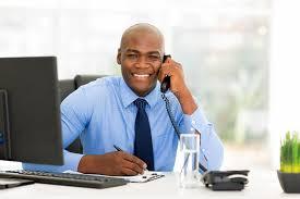 employé de bureau employé de bureau africain image stock image du compagnie 44341693