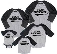 personalized family name number matching baseball shirts