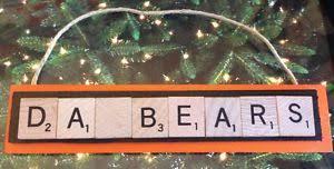 da bears chicago bears christmas ornament scrabble tiles ebay
