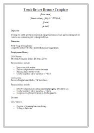 Resume Objective For Truck Driver Trucker Resume Objective