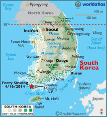 asia map coloring page south korea large color map