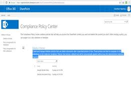 create compliance policy center site collection in sharepoint 2013