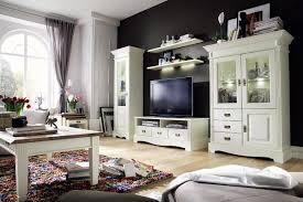 Wohnzimmerschrank Vintage Charmant Weiß Landhaus Wohnwand Fractonio In Braun Wohnen De