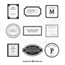 ornamental post service black and white sts vector free