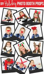 diy holiday photo booth props tip junkie