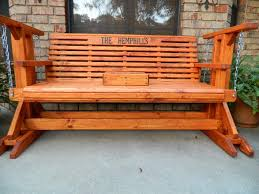 Patio Glider Bench Handmade Southern Style Wood Porch Glider Patio Glider Glider