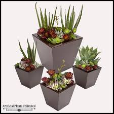 succulent arrangements 32in chic planter with artificial aloe and assorted succulents