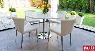 Small Round Dining Room Tables Simple White Round Dining Table 4 Legs Glass With Leather Acrylic
